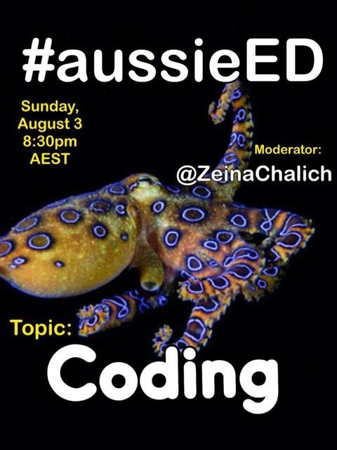 Yeow! Club code comes to #aussieEd Aug 3rd 8:30pm AEST come along & learn everything our pln knows about coding!! http://t.co/1GRYXaZI0K