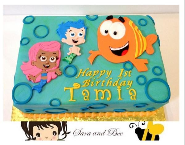 Incredible Sara And Bee Cakes On Twitter Bubble Guppies Birthday Cake Funny Birthday Cards Online Elaedamsfinfo