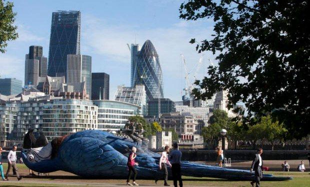 A giant 'dead parrot' was installed in London last week - find out more: http://t.co/pEmOI7h3cN #MontyPython http://t.co/BqsxSNmDMS