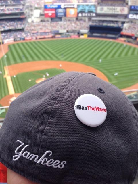 Let's go Yankees! And let's have a wave free game! #BanTheWave @baldvinny http://t.co/QG6eQ0vfNp