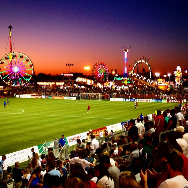 Last day of @StateFairCA and also @SacRepublicFC match tonight. Last chance for you to enjoy this epic scene: http://t.co/bZ3I180dcB