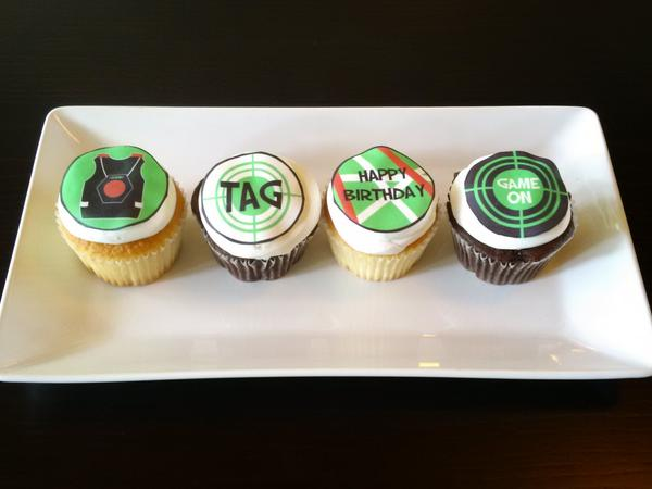 Fine Yoursweettemptations On Twitter Get Your Lasertag Cupcakes For Birthday Cards Printable Riciscafe Filternl