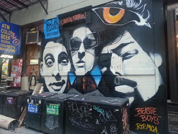 Here's the finished Paul's Boutique mural at the corner of Ludlow and Rivington #beastieboys #nyc #les http://t.co/6JmjjsINI1