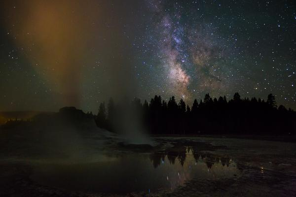 Clear skies & a new moon made this weekend a winner for enjoying the park's dark skies. #milkyway http://t.co/5DMz4AWJhr