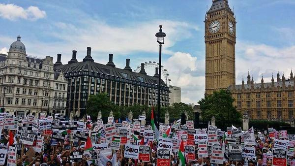 #Westminster was glowing with Palestinian flags and banners yesterday... ❤️  #GazaUnderAttack #London #SupportGaza http://t.co/uY3IJEVSjt
