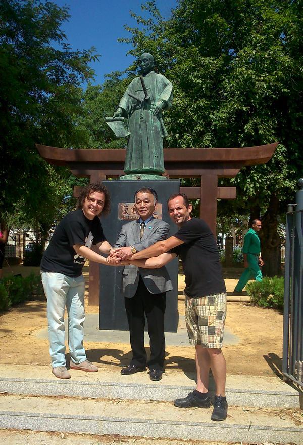 Expedición de estudiantes japoneses visita Coria del Río, encabezada por Hasekura Tsunetaka  @aytocoria http://t.co/mm4Tg7rhF0