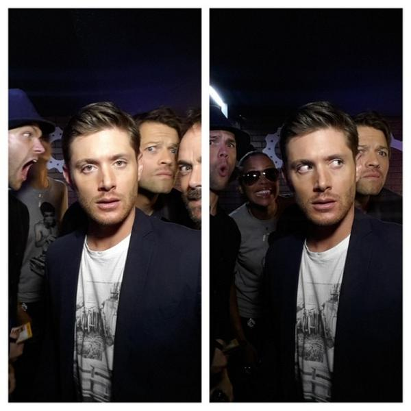 Cast of @cw_spn before last #ConversationForACause at #NerdHQ 2014! Photobomb by @aishatyler Until next year, Nerds.. http://t.co/kuuxCdeBSi