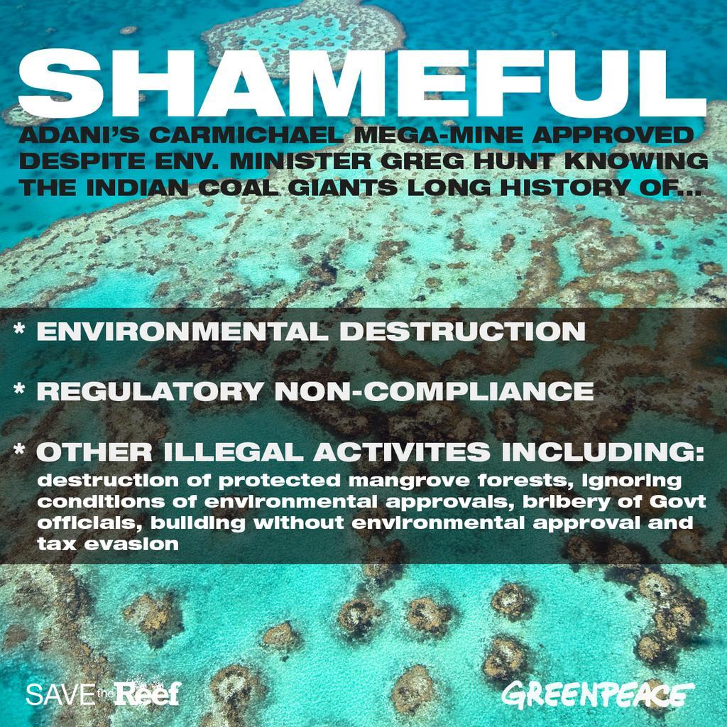 Twitter / GreenpeaceAustP: SHAMEFUL! Env. Minister ...