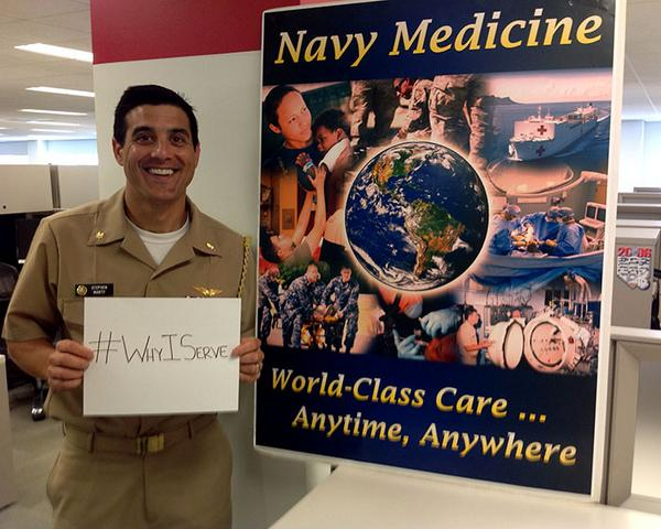 #WhyIserve @USNavy Medicine #BeingThereMatters http://t.co/qSAO6fOMG7