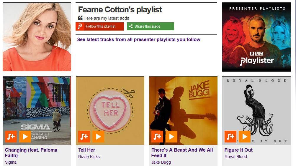 RT @BBCR1: Fearne's added @sigmahq, @RizzleKicks, @JakeBugg & @royalblooduk to her @BBCPlaylister! http://t.co/cemyKUiJex http://t.co/x9xmh…