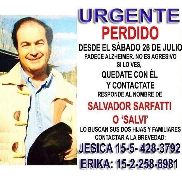 Papá perdido con Alzheimer via IG @juancarr1 TW @hambrecero http://t.co/NCPRanzmcH