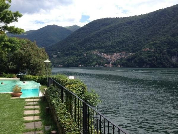In a mere matter of hours, we are in #LagodiComo. @ClaySquire has already conquered the autostrada! http://t.co/gJWTufJwOj