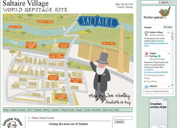 Saltaire Village on Twitter Saltaire Website tourism zone now