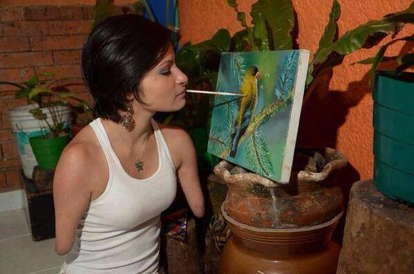 Yes  RT @RealTouchingPic: She deserves endless retweets. I can not even do that with my hands! http://t.co/MMWH4GyJjf