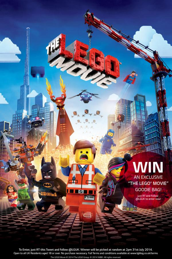 It's *COMPETITION TIME* again! just RT and FOLLOW @LGUK and u could WIN an exclusive @TheLEGOMovie Goodie Bag! http://t.co/9mmHrMaSGv