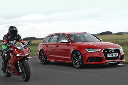 RT @AutoExpress: Audi now owns Ducati, so we decided to race the brands' most powerful models →http://t.co/kyJLWI7boO http://t.co/xzeYMDU0X8