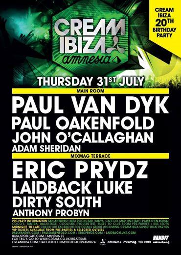 This Thursday I'm doing my only Cream/Amnesia gig for this summer!   Can't wait!  #TDM  http://t.co/3xipX6DzfF""