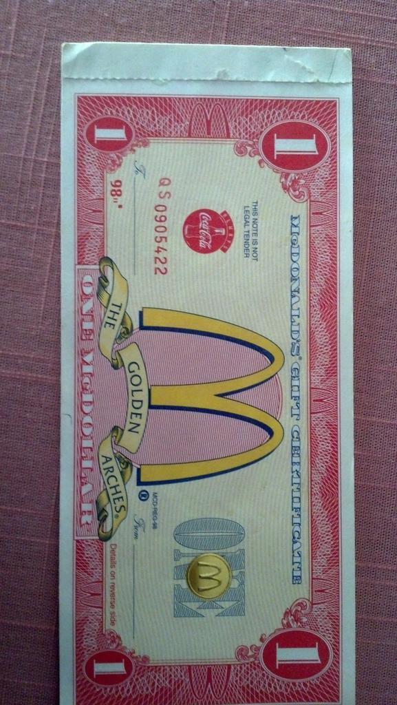 "zaku-x109 on twitter: ""#mcdonalds @mcdonalds old mcdollar gift ..."