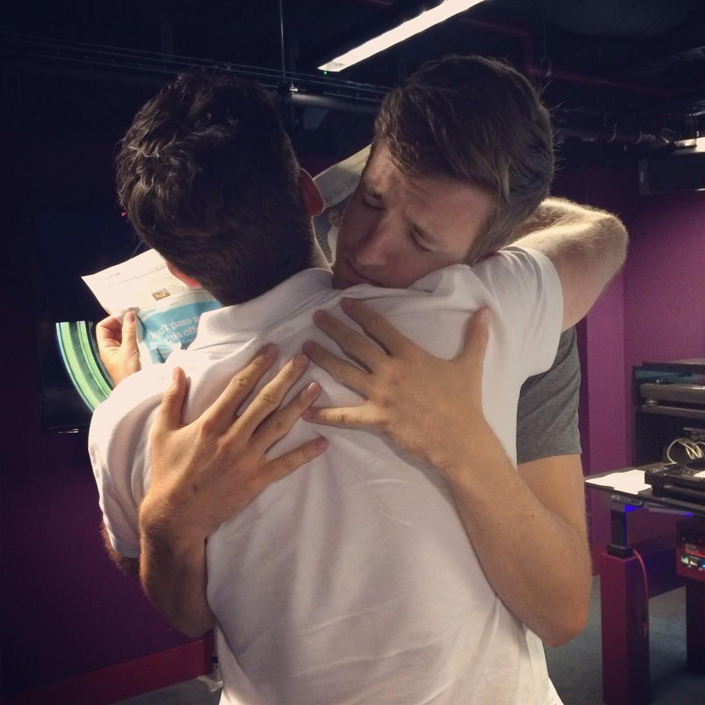 RT @BBCR1: Greg and Chris Smith With The News have been reunited! Greg's never letting him go again! http://t.co/LfIAuF8sl9