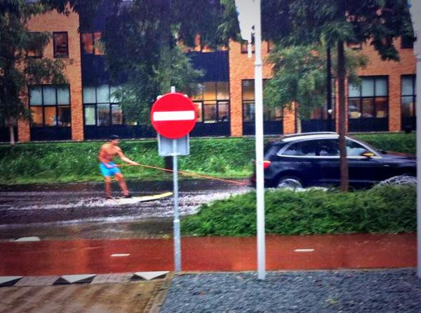 It was a rainy day in Holland, this is how we surf! #rain #summer #crazy #dutchies http://t.co/3HlQhHrX9K