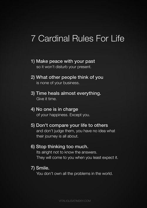 7 Cardinal Rules for Life http://t.co/tuh01YlCXU