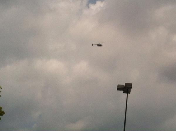Helicopter circling Northwoods Mall. #chs #chsnews http://t.co/smUuJlSYT8