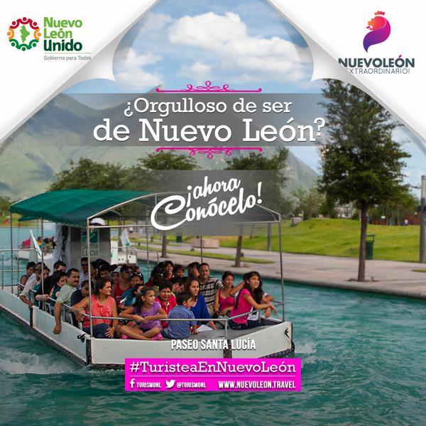 Si estás de vacaciones, aprovéchalas y #TuristeaEnNuevoLeón, les recomiendo un recorrido por el Paseo Santa Lucía! http://t.co/2siqcPeHrZ