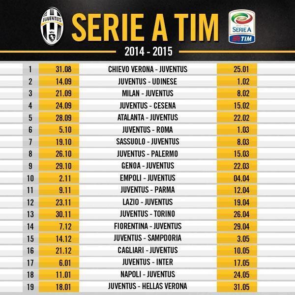 Calendario Iuve.Daniel Martinez On Twitter Calendario Juventus En La Serie