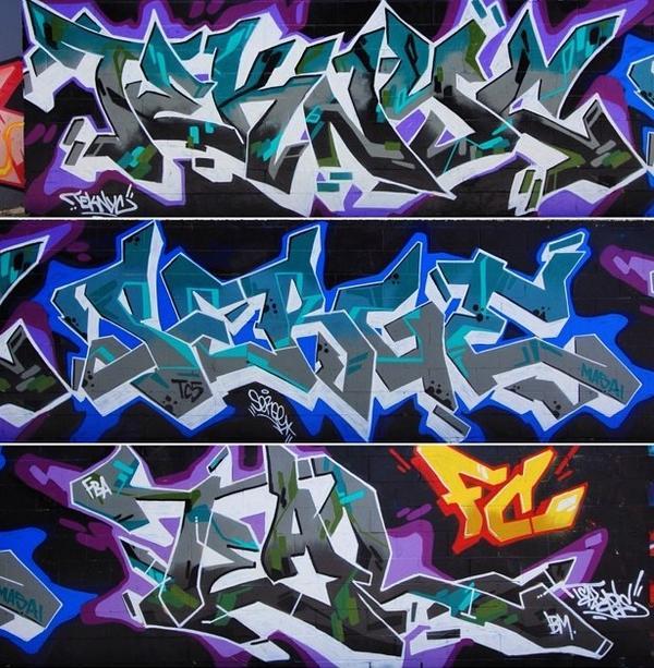 Dope pics by @Joe1974 of our mural. #FameCity #Graffiti @Teknyc @Tealizm @Zuluw #Serge. http://t.co/MlkAR6MMCH