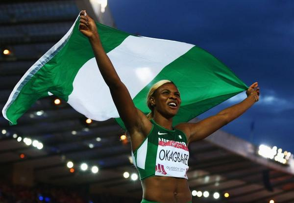 Congrats to Blessing Okagbare for winning gold - http://t.co/uGUg1AmYFc http://t.co/EurcODwYDN