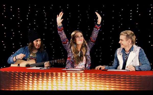 Writing songs on set w/ @markspicoluk & @dankanter makes me do this! @TheNextStar airs tonight at 7pm on @ytv! #tns7 http://t.co/Zmt89YdQzL