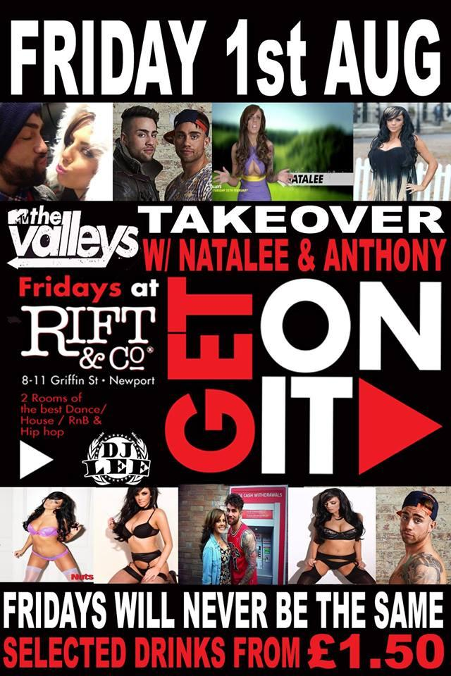 RT @RevNewport: This FRIDAY: GET ON IT with @NataleeValleys & @AnthonySuminski   £3 entry from 10PM, Drink offers all night!! http://t.co/D…