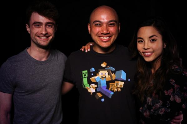 Daniel Radcliffe and @AnnaAkana were amazing! A true stand up guy. Can't wait to show you his portrait! #whatifmovie http://t.co/x3niWlDt0l