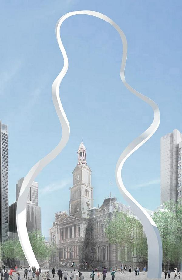 Have you seen the plans for Sydney's CBD public art installations?  What do you think of the 'Cloud Arch'? http://t.co/rwjmPrgLkz