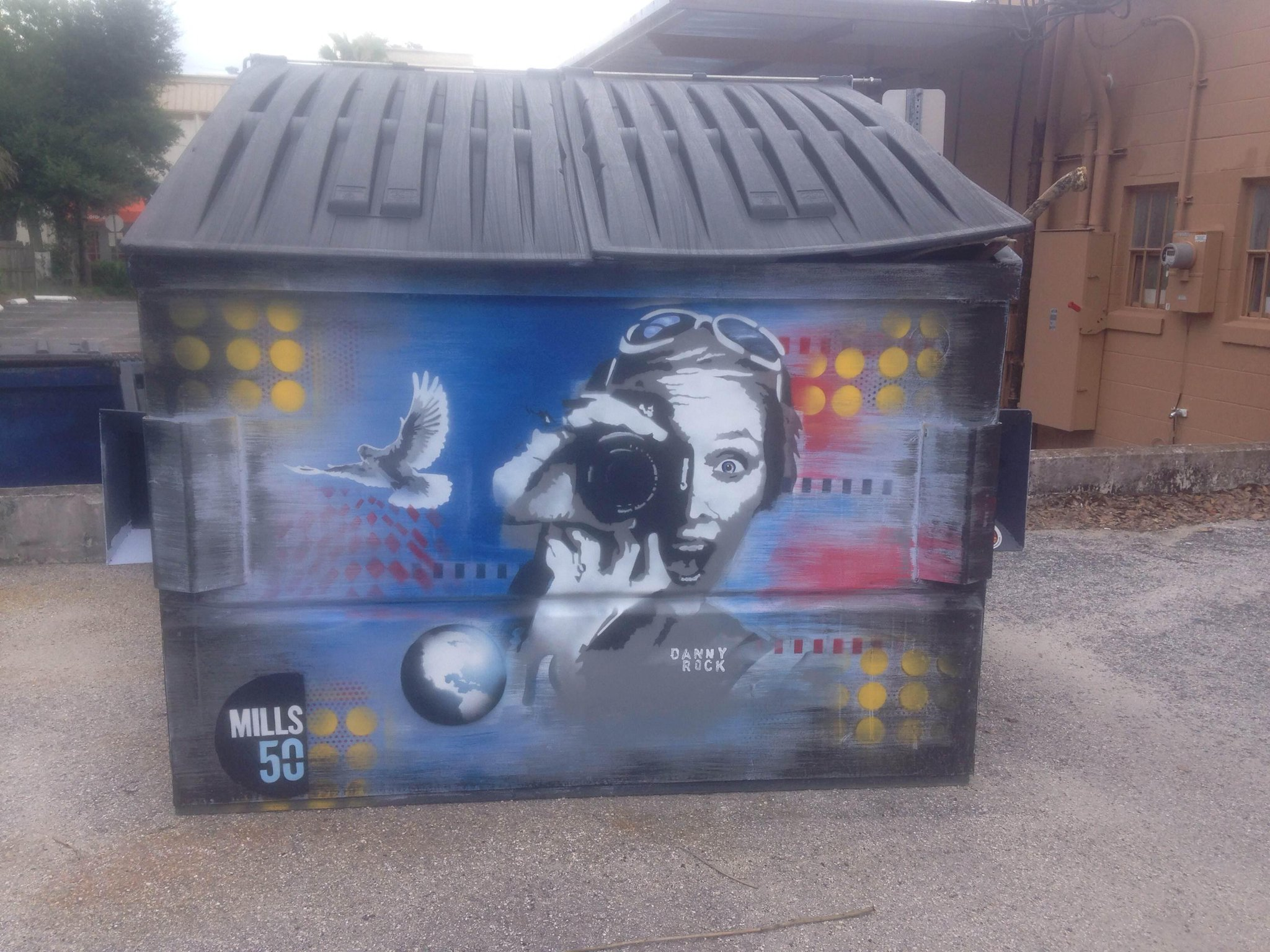 Twitter / GulkinGazette: More of @Mills50 #dumpsterart ...