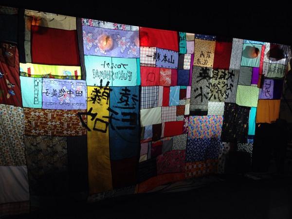 名入りぼり旗、まだまだ募集中!! 8月11日まで受付!! 大友良英が心を込めてお名前書きます! 写真はフジロックで飾ったのぼり旗。 あなたの名前でフェスティバル会場を彩って下さい! http://t.co/ImbDbSfkFA http://t.co/tYWKTeu1Md