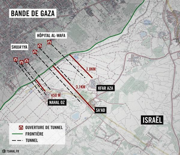 Hier soir, des terroristes du Hamas ont infiltré Israël via un tunnel dans le but d'attaquer le village de Nahal Oz