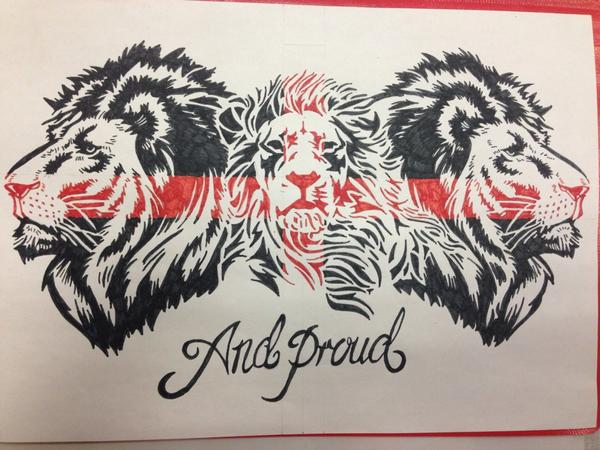 Wayne On Twitter Another england tattoo design drawing lion