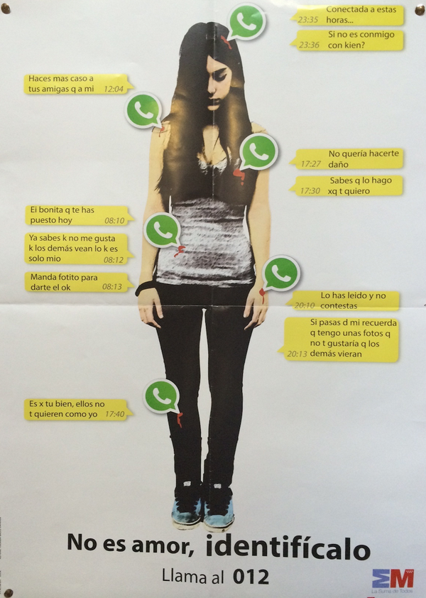 Esta campaña para los jóvenes me ha gustado mucho sobre el acoso por WhatsApp. La privacidad de tu vida es tuya }:S http://t.co/qKBPIFDRcI