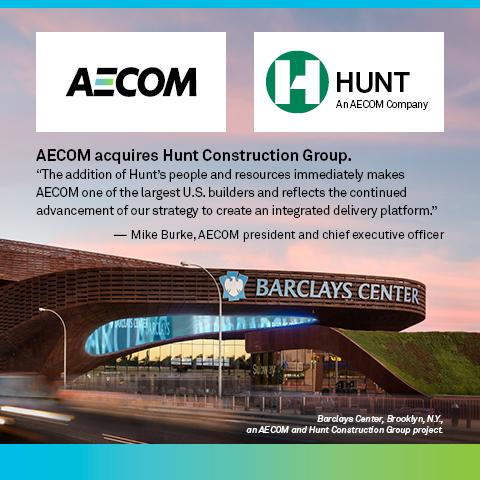 BREAKING NEWS: AECOM acquires Hunt Construction Group to join its construction business  http://t.co/5lkocoe7Jn $ACM http://t.co/1fLUBUxNmU