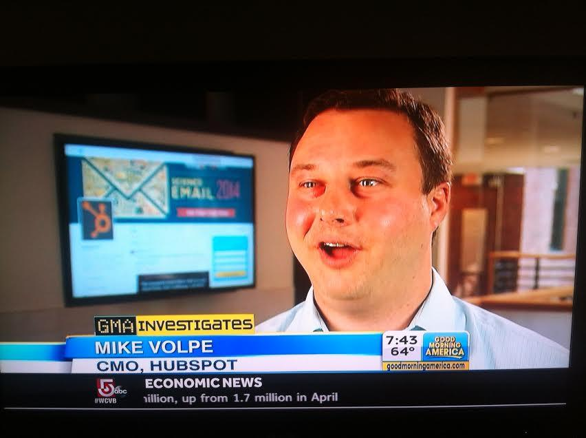 Twitter / HubSpot: Thanks @GMA for featuring @mvolpe ...