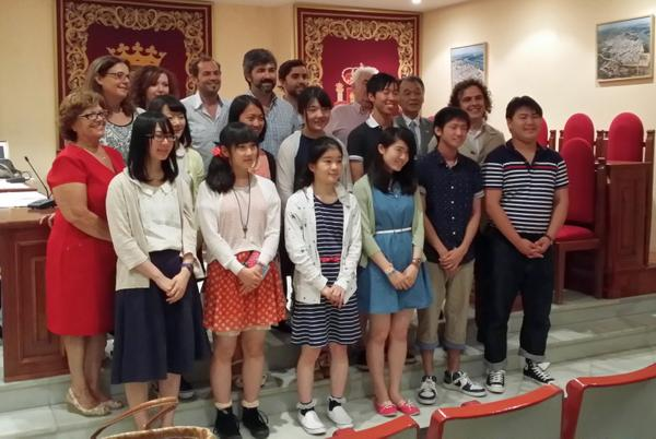 Expedición de estudiantes japoneses visita Coria del Río, encabezada por Hasekura Tsunetaka @aytocoria http://t.co/iSD6r6T1A7