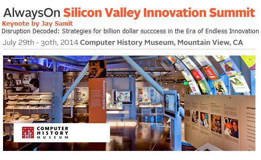 I am speaking on Disruption today at the @Alwayson Silicon Valley Innovation Summit in Mountain View. See you there! http://t.co/RtKZG79adt