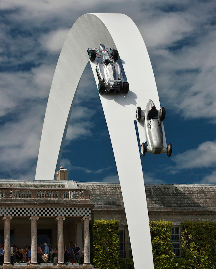 Stunning Mercedes-Benz sculpture at Goodwood - take a look here: http://t.co/HX0U6tieEc #art #design http://t.co/92IkPermiy