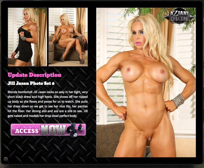RT @rachelaziani: Jill flexes her ripped up body on http://t.co/dB3QVoyFNL #bodybuilder #fitness #bigclit