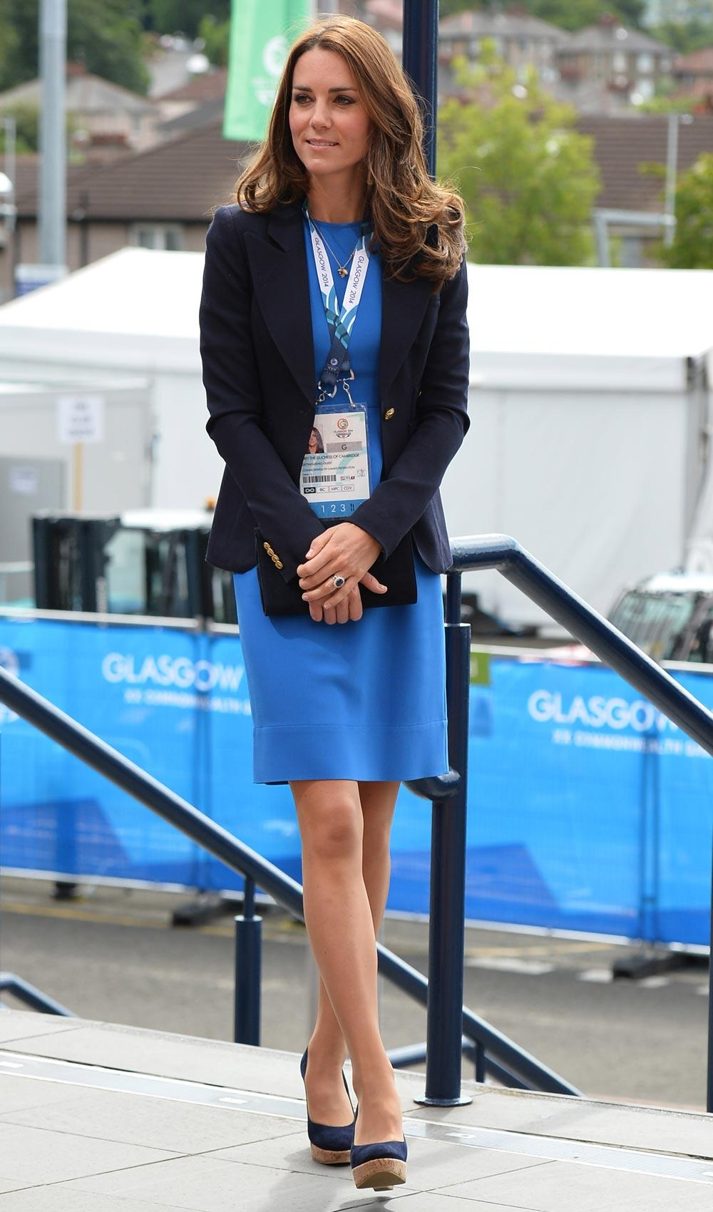 The Duchess of Cambridge was striking in blue @StellaMcCartney at the Commonwealth Games today http://t.co/BwgHDt06FA http://t.co/FoqCLFvR5H