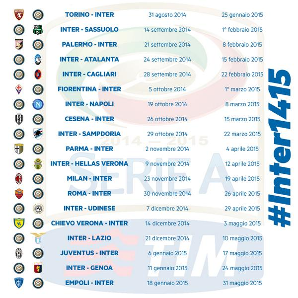 Interit Calendario.Inter On Twitter Il Calendario Dell Inter Per La