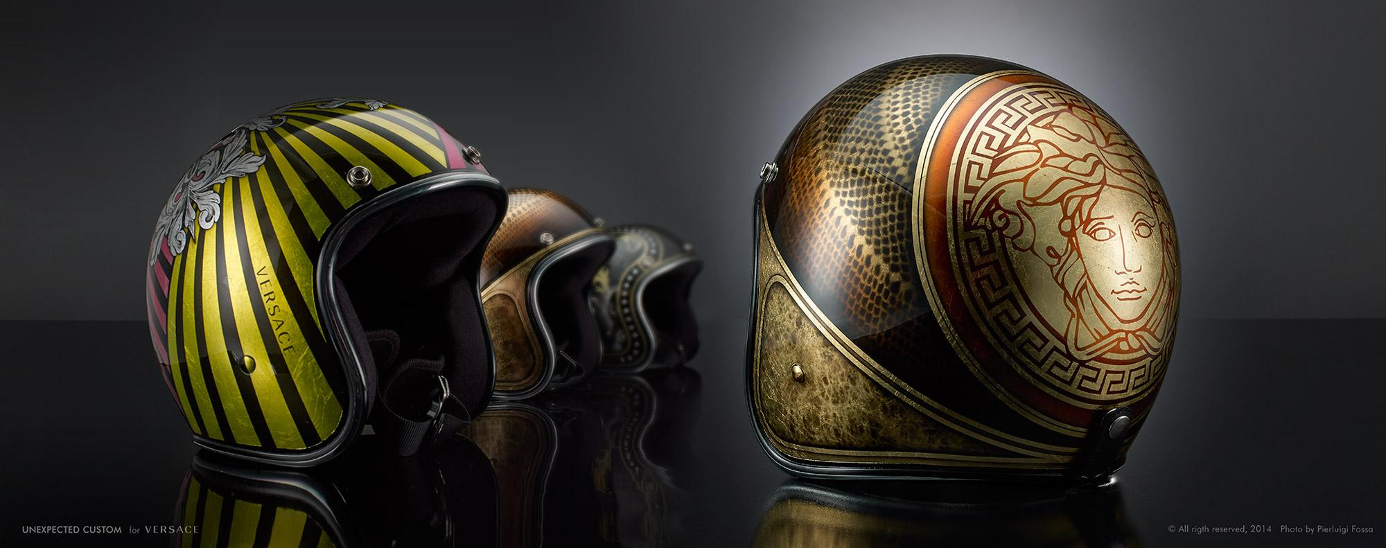 Create your own biker style with the daring #Versace helmets. http://t.co/yo72Ni40yh #VersaceMenswear http://t.co/NCxdbG4VnV