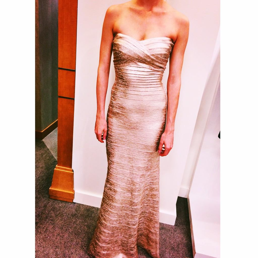 Around The Store: @herveleger Fall 2014 gown, NM Denver. http://t.co/tkRHNzw4Ul