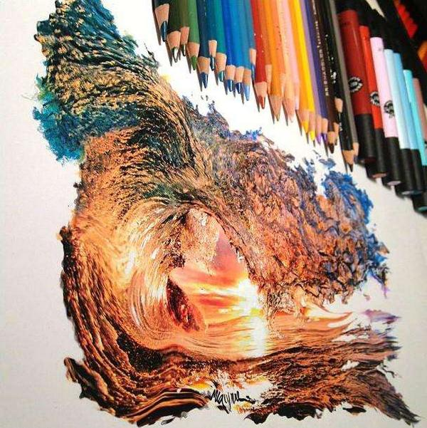 Tweetsmarter on twitter quotamazing colored pencil drawing of